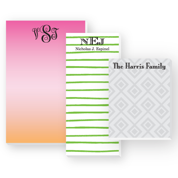 Personalized Notepad Sets
