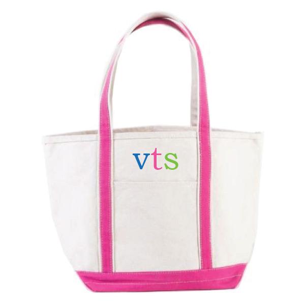 dd58fc56f5a Pink Bottom Canvas Tote Bag