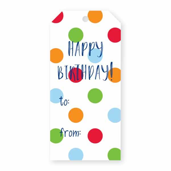 happy birthday spots gift tag donovan designs