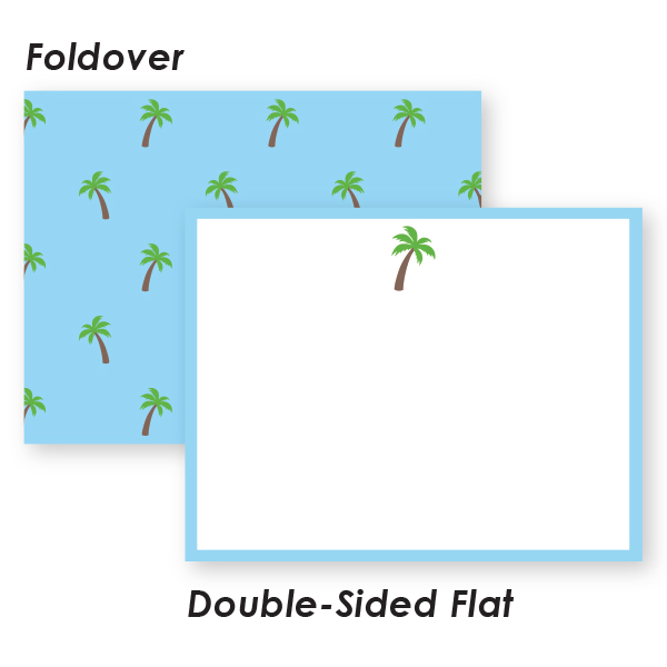 palm tree boxed stationery donovan designs