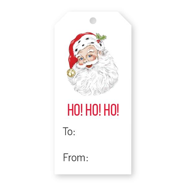 christmas gift tag w santa donovan designs