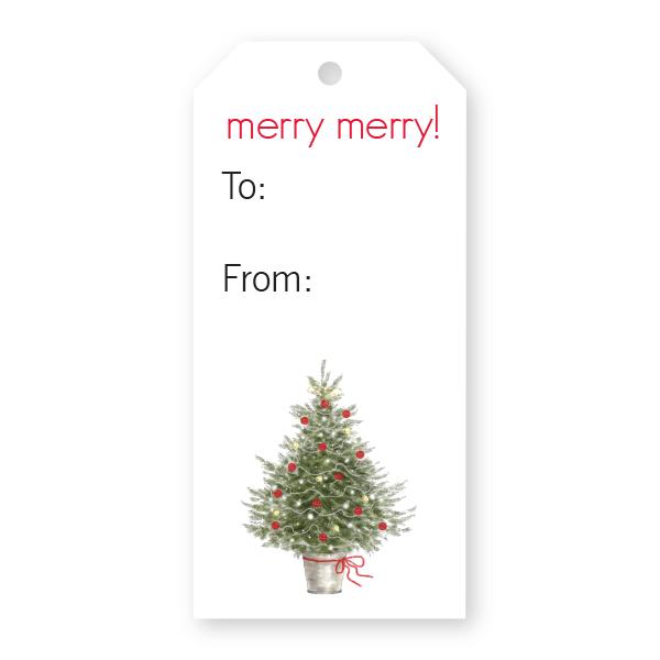 Christmas Gift Tag.Christmas Gift Tag W Tree