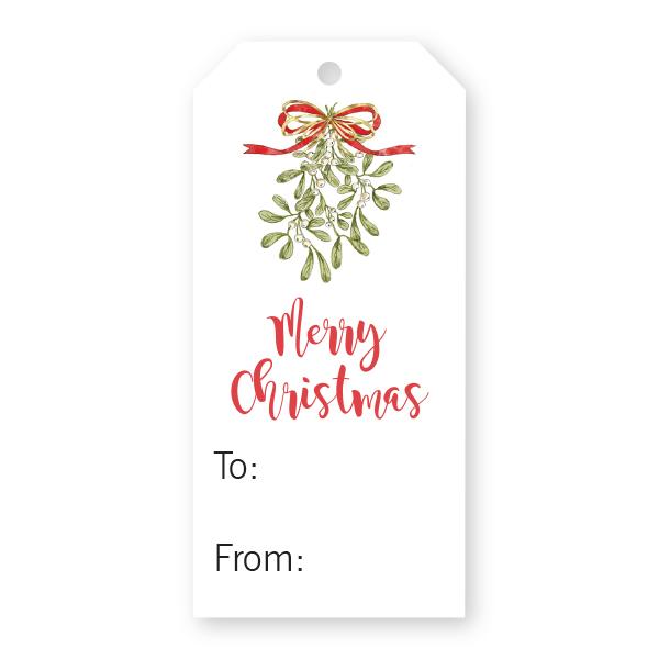 Christmas Gift Tag.Christmas Gift Tag W Mistletoe