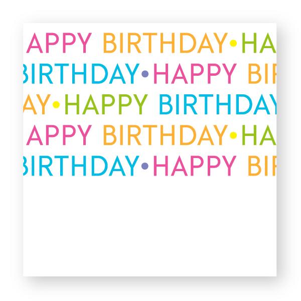 Happy Birthday Square Gift Sticker