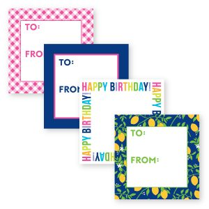 Square Gift Stickers